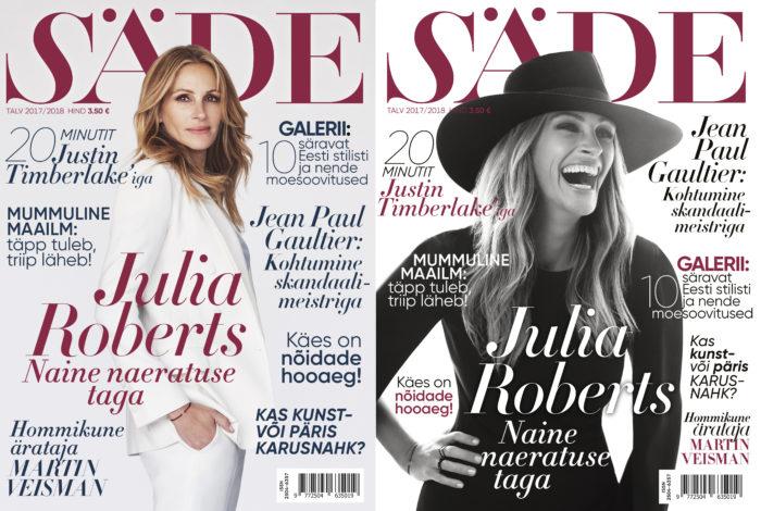 Ajakirja Säde esikaas, Talv 201-2018, Julia Roberts