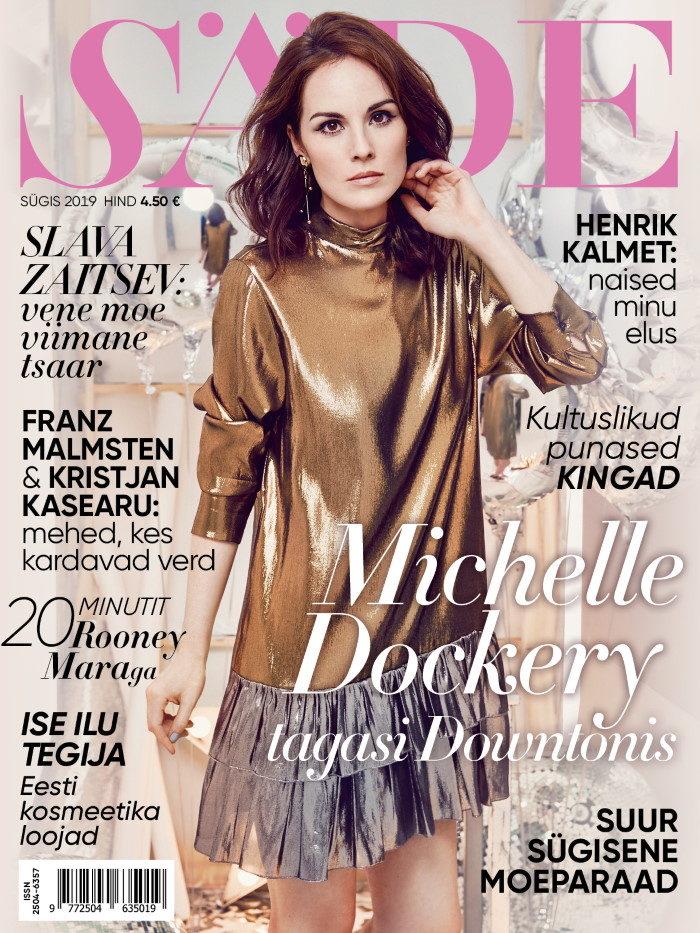 Ajakirja Säde esikaas, Sügis 2019, Michelle Dockery