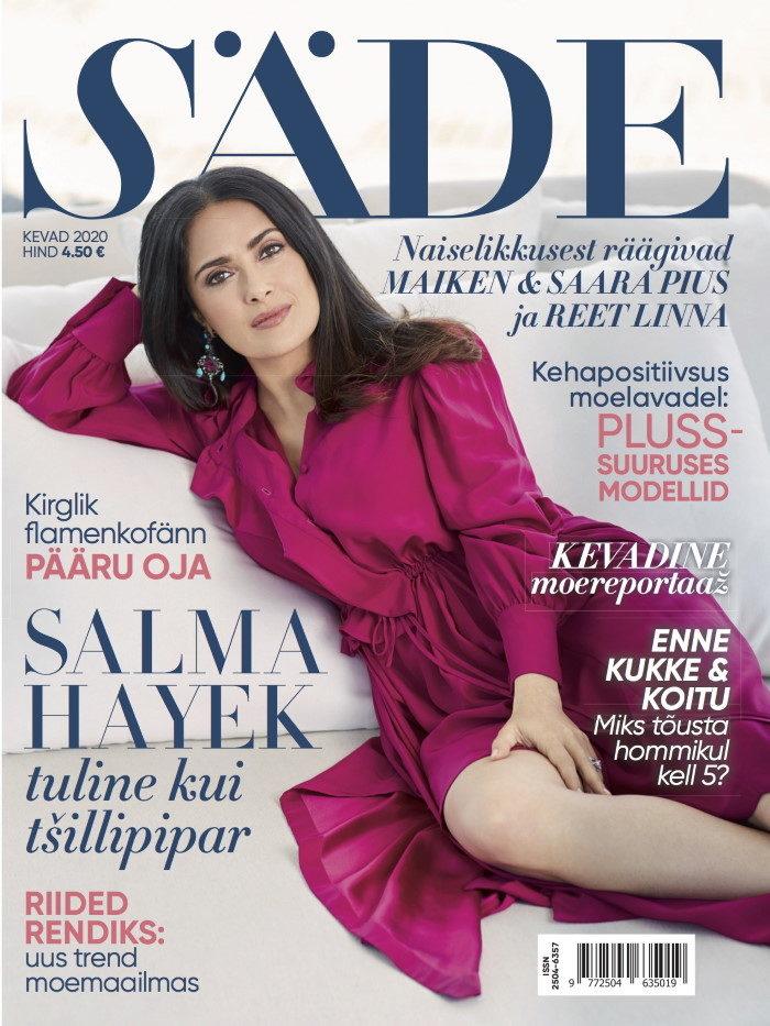 Ajakirja Säde esikaas, Kevad 2020, Salma Hayek